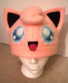 Jigglypuff hat by Red-Flare on DeviantArt Pokemon Beanie, Deadpool Pikachu, Red Flare, Fleece Hats, Diy Hat, Cool Hats, Diy Costumes, Craft Fairs, Baby Hats