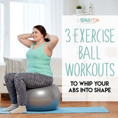 Wondering why so many people reach for an exercise ball at the gym? Exercise ball workouts lead to improved balance, greater core strength (i.) and better performance. Find out how to start with these step-by-step instructions. Balance Ball Exercises, Swiss Ball Exercises, Exercise Ball Abs, Excercise, Yoga Ball Abs, Health Exercise, Easy Workouts, Bike Workouts, Swimming Workouts