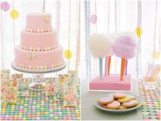 It's a girl! Adorable baby shower or birthday party idea.