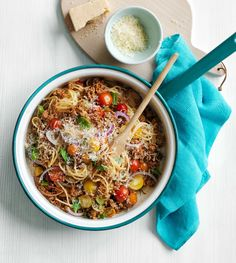Switch up this recipe to make tacos! Omit the pasta and swap the lemon for lime. Add 1 tsp ground cumin to the browned beef and serve with small corn tortillas, shredded lettuce, fresh cilantro and grated Pepper Jack cheese. Get the recipe.  - WomansDay.com