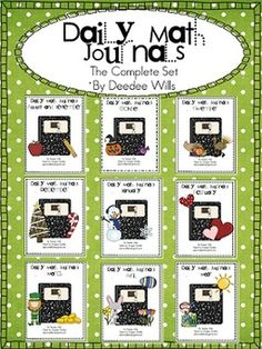 Daily Math Journals are a great way to review reinforce math concepts in a creative way.  Working this activity into your day is so simple and quic...