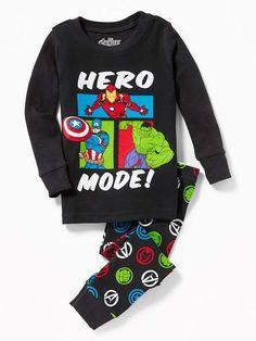 "Old Navy Toddlers' Marvel™ Avengers ""Hero Mode!"" Sleep Set Heroes Regular Size M Toddler Girl Gifts, Baby Boy Gifts, Toddler Boys, Infant Boys, Boys Sleepwear, Boys Pajamas, Kids Outfits Girls, Baby Boy Outfits, Avengers Outfits"