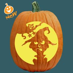"""One of 700+ FREE stencils for pumpkin carving and more! www.pumpkinlady.com """"Tag, You're It!"""" #FreePumpkinCarvingPattern"""