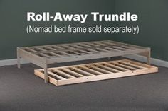 Low profile rolling trundle frame