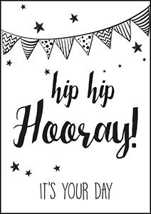 """Hip hip hooray"""