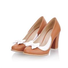 Charm Foot Fashion Bows Womens Chunky High Heel Heel Pump Shoes (8.5, Brown) Charm Foot,http://www.amazon.com/dp/B00GTPB36K/ref=cm_sw_r_pi_dp_BPXCtb0RE0AJ13DJ