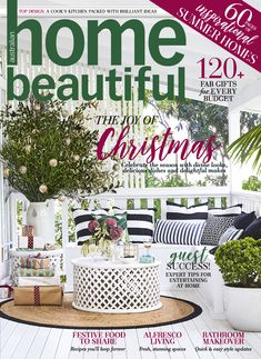 Home Beautiful December issue is filled with gorgeous gifts to give, fabulous decorating ideas for Christmas and everything you need for sensational summer entertaining. Best Interior Paint, Best Home Interior Design, Scandinavian Interior Design, Interior Design Living Room, Interior Design Colleges, Interior Sliding Barn Doors, Beautiful Cover, Luxury Vinyl Plank, Australian Homes