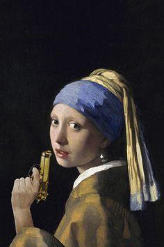 VERMEER | GIRL WITH A PEARL EARRING #Vermeer #GirlwithAPearlEarring #Arty-Shock #StudioPietjePrecies