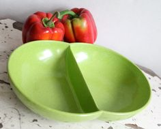 1950s Lime Green Branchell Melmac Serving by BlueRememberedHills, $12.00