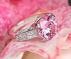 What is diamond color? It's part of the of diamond education and it's talking about the lack of color in a diamond. Here you'll discover what you need to know about diamond color, as well as, myths, tricks to watch out for, and money saving tips. Ring Set, Ring Verlobung, Pink Love, Pretty In Pink, Hot Pink, Bling Bling, Pink Diamond Ring, Pink Diamonds, Pink Sapphire