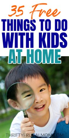 Check out this list of free activities to do with kids at home! Creative ideas that can be done indoors without much prep work and few supplies. Perfect for rainy days and school breaks. games for kids ideas Free Activities For Kids, Rainy Day Activities, Bored Kids, Outdoor Games For Kids, Free Things To Do, Family Kids, Our Kids, Kids House, Rainy Days