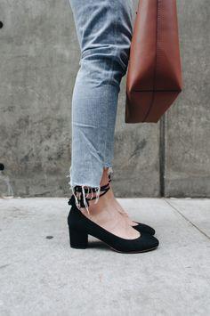 Short Black Lace Up Heels