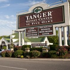 Tanger Outlets: Sevierville, Tennessee. I have a funny story @ my friend shopping for her Honeymoon wardrobe here!