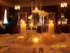 wedding table candle centerpieces   ... love candlelight and feel no guest table is complete without
