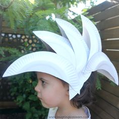 Sydney Opera House hat made from paper plates is a fun Australia Day activity for kids and a great way for them to show their pride for their country.