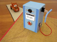 household items to make a toy gas pump
