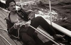 Jarrod Scott Models Nautical Styles for GQ Australia