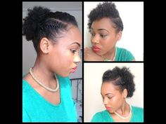3 Quick Easy style for short Natural Hair ( wash and go 5th day styles - YouTube
