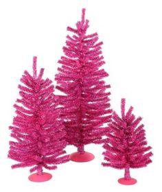 Pink Mini Christmas Tree Set