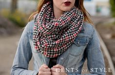 Houndstooth Infinity Scarf   Faithful Provisions