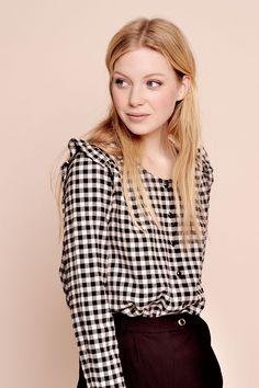 1ce85038418 Blouse saturday carreaux - blouse 100% coton - des petits hauts 1