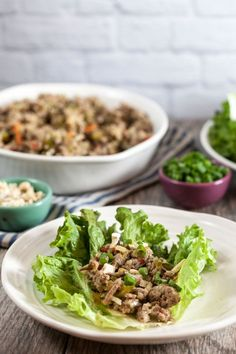 Thai Turkey Lettuce Wraps - Healthy. Delicious.