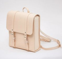 Leather backpack vegetable tanned leather backpack leather laptop bag laptop…