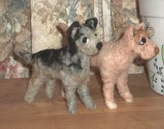 Set of two Needle Felted Australian Cattledogs by KathysCraftShop on Etsy