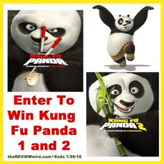 Enter to win Kung Fu Panda 1 & 2 on DVD! Ends 1/26/16 #PandaInsiders