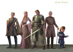 Fantastic Digital Painting of House Lannister by Apple XieBin