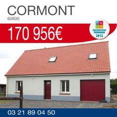 #HabitatConcept vous propose ce pavillon avec garage à CORMONT (62630) pour 170 956€ TTC*. Renseignements par téléphone au 03.21.89.04.50
