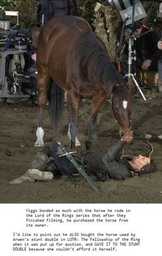 Lord of the Rings behind the scenes - Viggo Mortensen is awesome