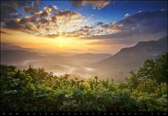 Highlands Sunrise - Whitesides Mountain in Highlands, NC by Dave Allen Photography, via Flickr