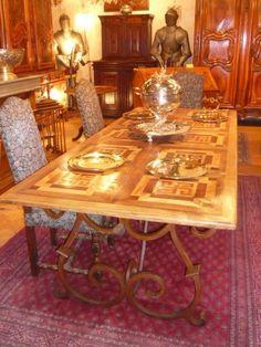 Table à dessus parquet ancien - AnticStore Antiquités 19ème siècle - Réf.2194