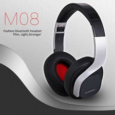 64.99$  Watch now - http://alir3n.worldwells.pw/go.php?t=32789178682 - New Arrive AUSDOM M08 Bluetooth 4.0 Headset Stereo Wireless Microphone Hands-Free Deep Bass 500mAh Built-in Battery Headphone 64.99$
