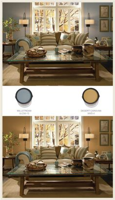 Country-Casual-Cans-Border, definitely the desert caravan! Country Paint Colors, Paint Colors For Living Room, Paint Colors For Home, My Living Room, House Colors, Home And Living, Living Room Decor, Bedroom Colors, Wall Colors