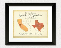 Custom Gift for Grandpa, Long Distance Gift for Papa, Birthday Gift for Grandfather, Custom Gift Print for Grandson by KeepsakeMaps on Etsy for $25.95