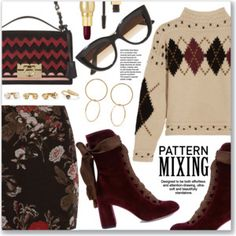 Head-to-Toe Pattern Mixing