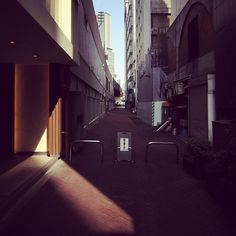 city buildings tokyo light alley street shade statigram webstagram