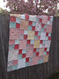 Layer Cake Rag Quilt FREE Pattern | Craftsy