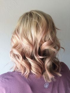 Baby pink subtle balayage highlights