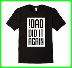 Mens Promoted To Big Brother Shirt - Dad Did It Again Medium Black - Relatives and family shirts (*Amazon Partner-Link)