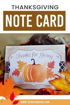Free Thanksgiving Printable Card Thanksgiving Note, Free Thanksgiving Printables, Free Printables, Printable Cards, Note Cards, Thankful, Activities, Fun, Crafts