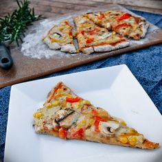 Veggie Pizza (Dairy Free, Egg Free, Gluten Free, Low Fat, Soy Free, Sugar Free)