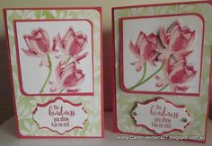 Using the new Lotus blossom stamp and the DSP Irresistibly yours sponged with pear pizzazz