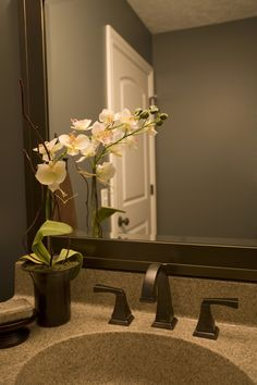 Half Bathroom, vanity, interior design By Brooke, www.ByBrookeLLC.com