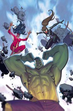 Spider-Woman, Spider-Girl, Hulk