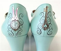 How cool would it be to paint a pair of Alice shoes like these?