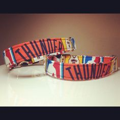 Thunder Up dog collars from Uptown Thread.