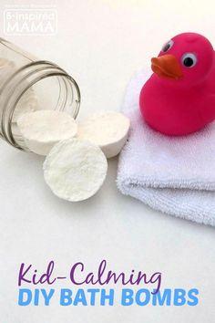 DIY Calming Bath Bombs Recipe for Kids at B-Inspired Mama